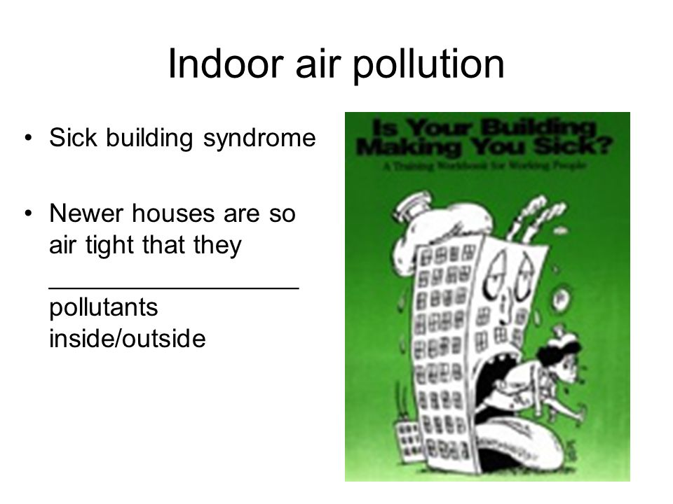Indoor air pollution Sick building syndrome