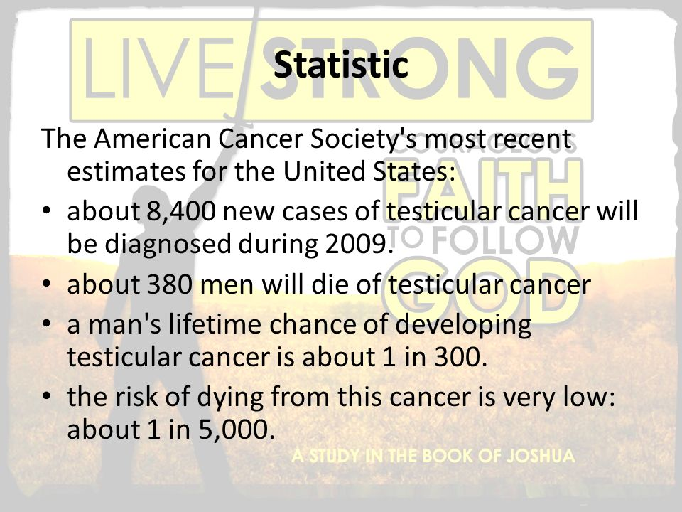 Statistic The American Cancer Society s most recent estimates for the United States: