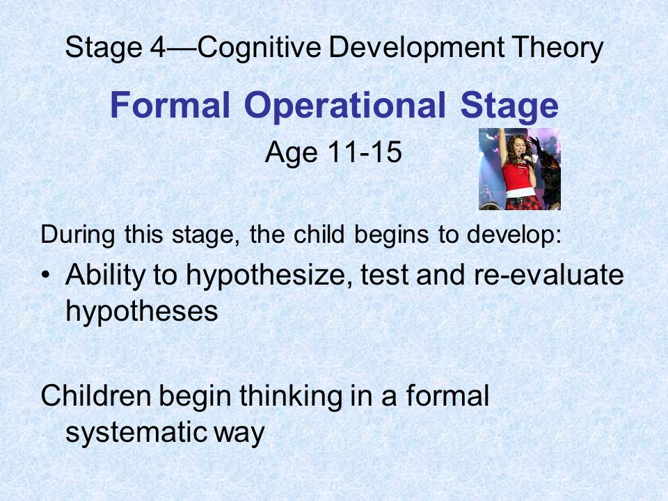 stage 4cognitive development theory