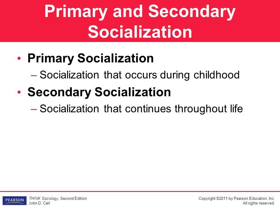 secondary socialisation