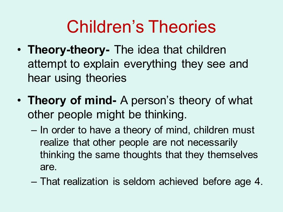 theory of mind child development