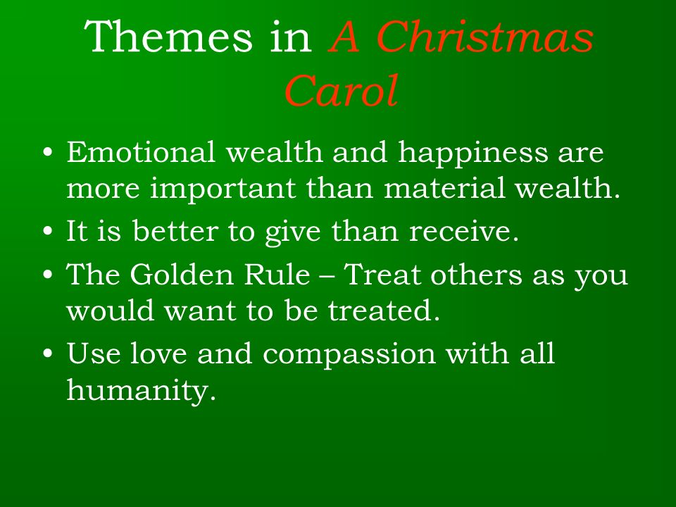 3 themes in a christmas carol - What Is The Theme Of A Christmas Carol