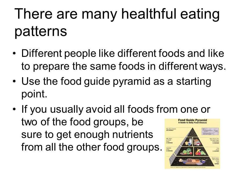 There are many healthful eating patterns