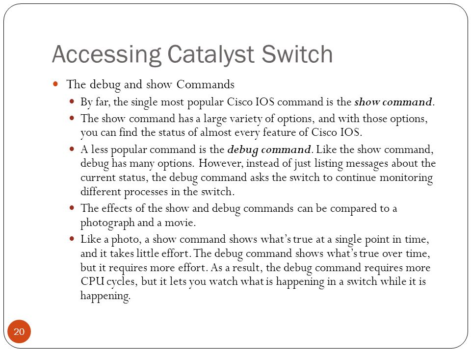 Operating Cisco LAN Switches - ppt video online download