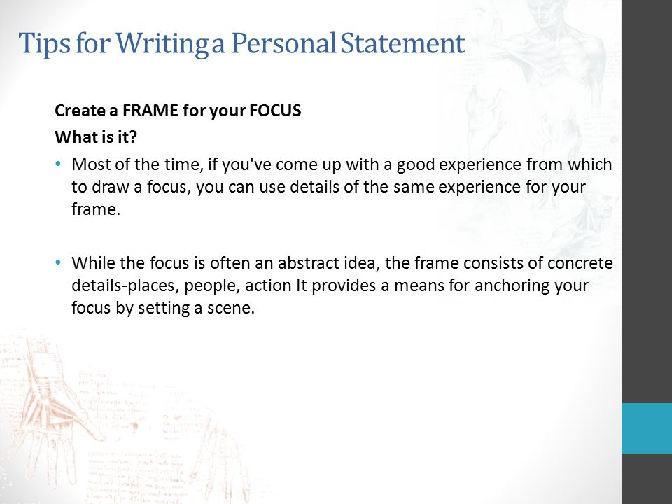 Personal Statement Writing - ppt download