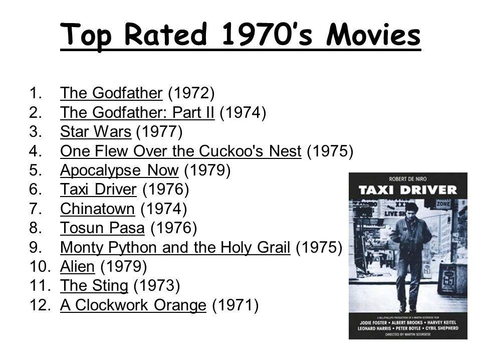 Top Rated 1970's Movies 1. The Godfather (1972)