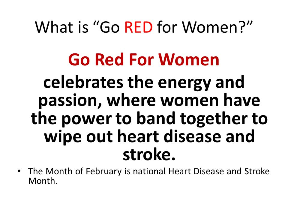 What is Go RED for Women