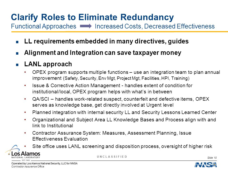 Clarify Roles to Eliminate Redundancy Functional Approaches Increased Costs, Decreased Effectiveness
