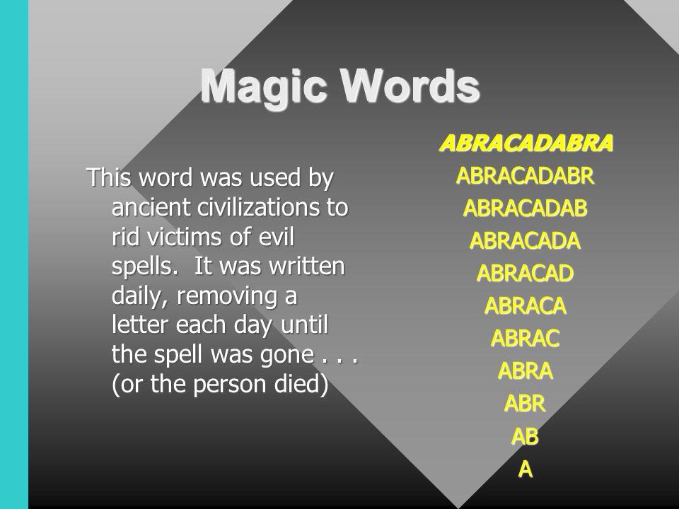 Magic Words Prestidigitation Initiate Grid Spot - ppt video online