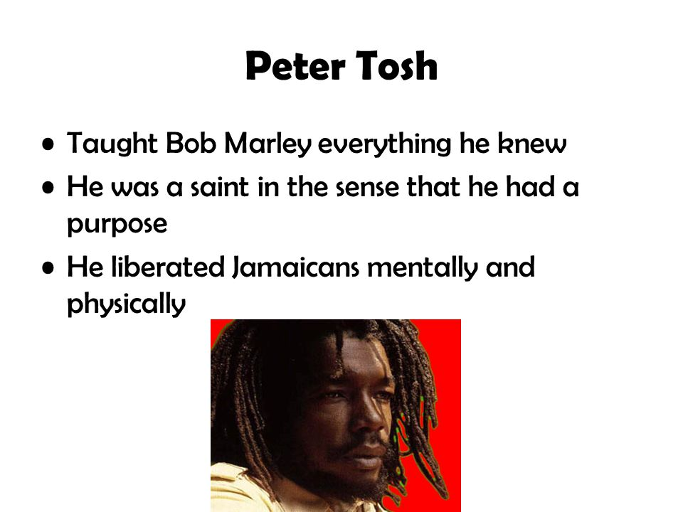 Peter Tosh Taught Bob Marley everything he knew