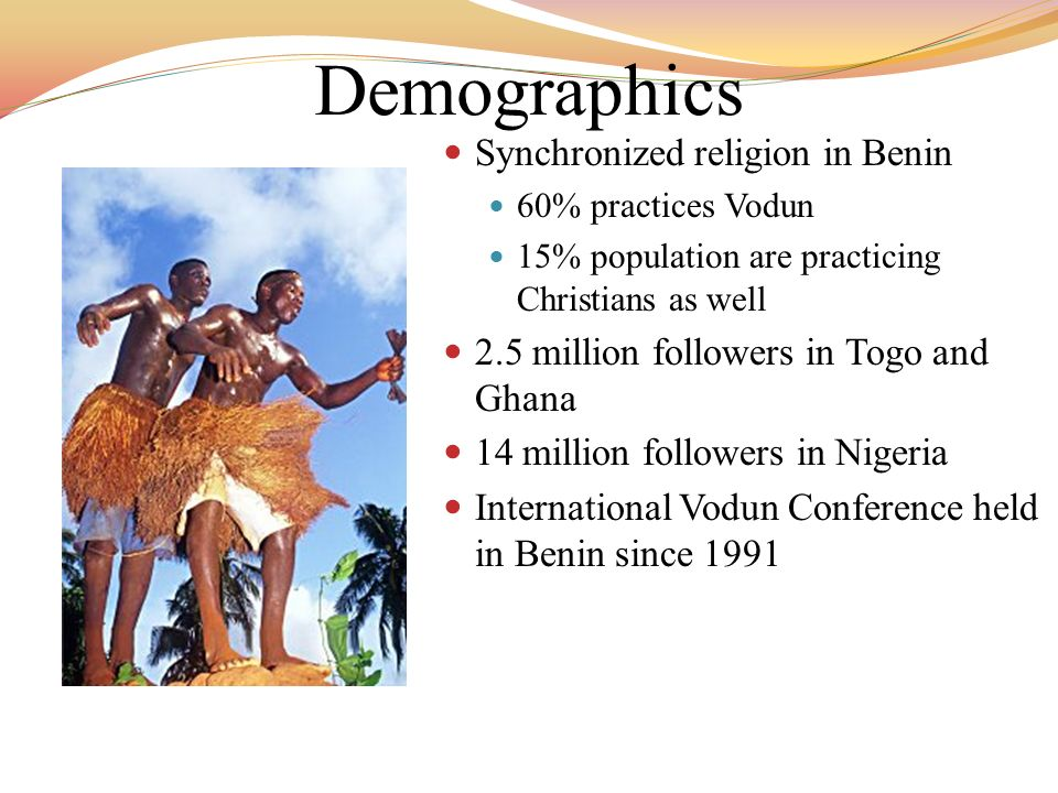 Demographics Synchronized religion in Benin