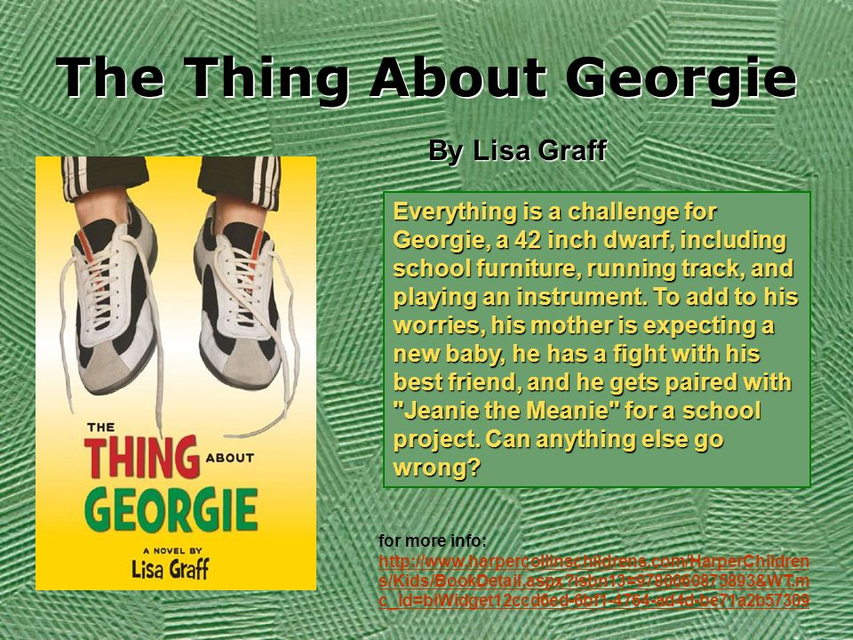 the thing about georgie graff lisa
