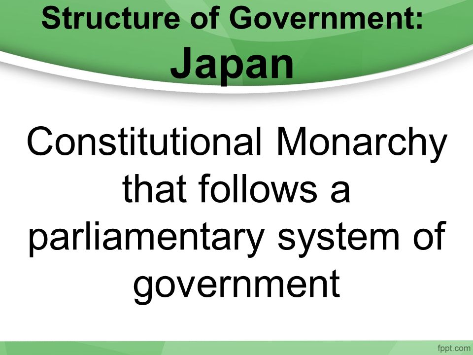 Structure of Government: