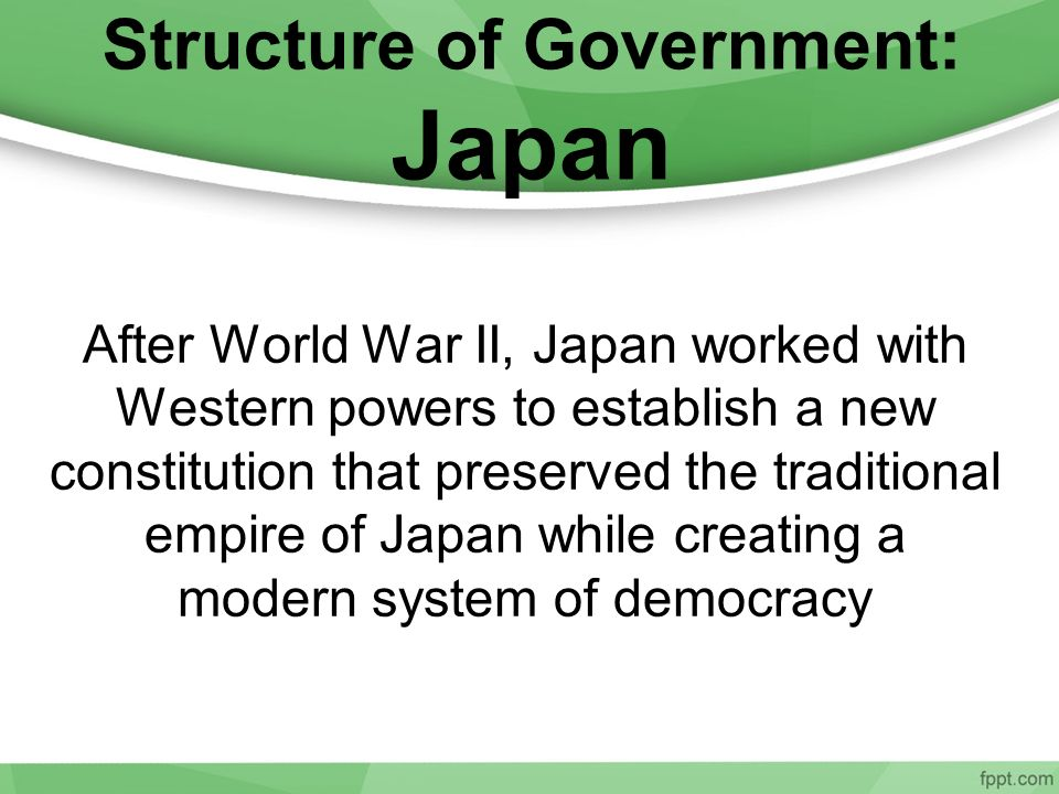 Structure of Government: Japan