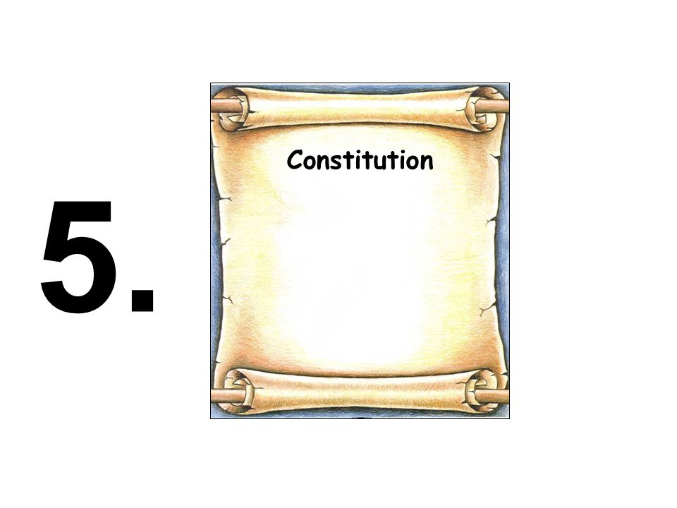 Constitution 5. Illustrates India, China, and Japan because all three countries have constitutions.