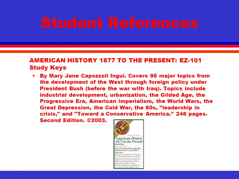 american hist 1877 to present what American history from the end of reconstruction to the present the impact of industrialization, immigration, urbanization, and the rise of mass culture in the united states the effect of depressions and wars on american society and politics and the roots and results of reform movements ranging from populism and progressivism to the civil.
