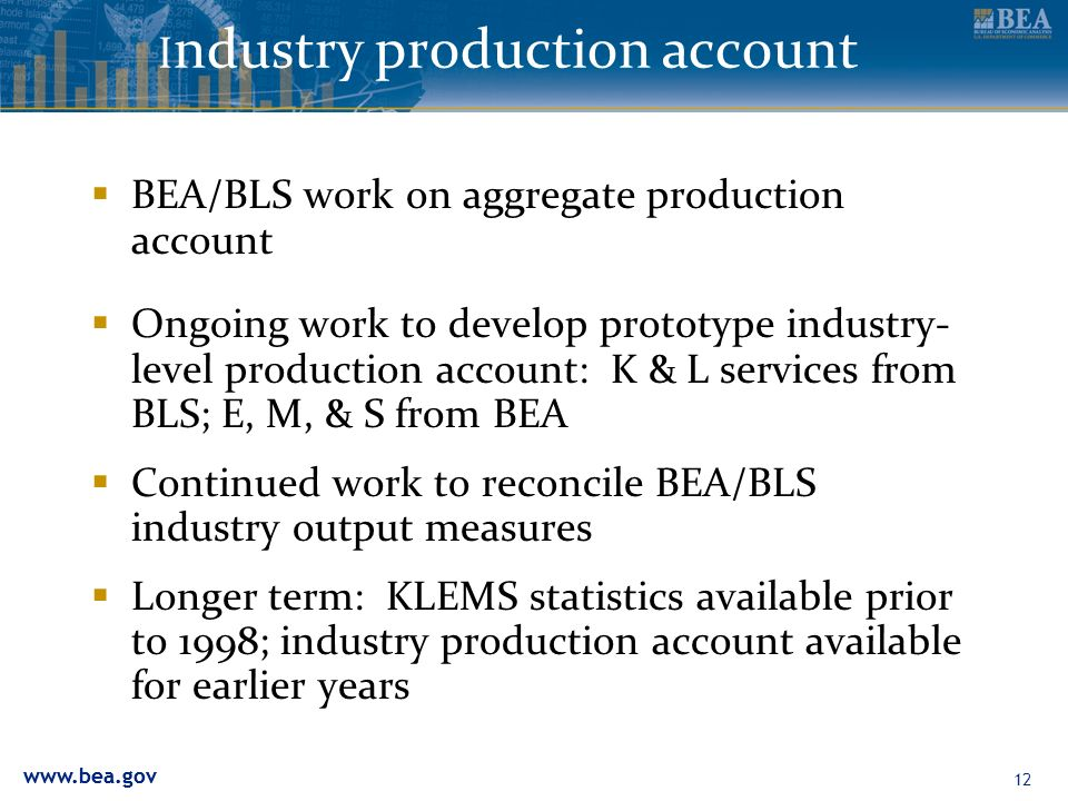 Industry production account