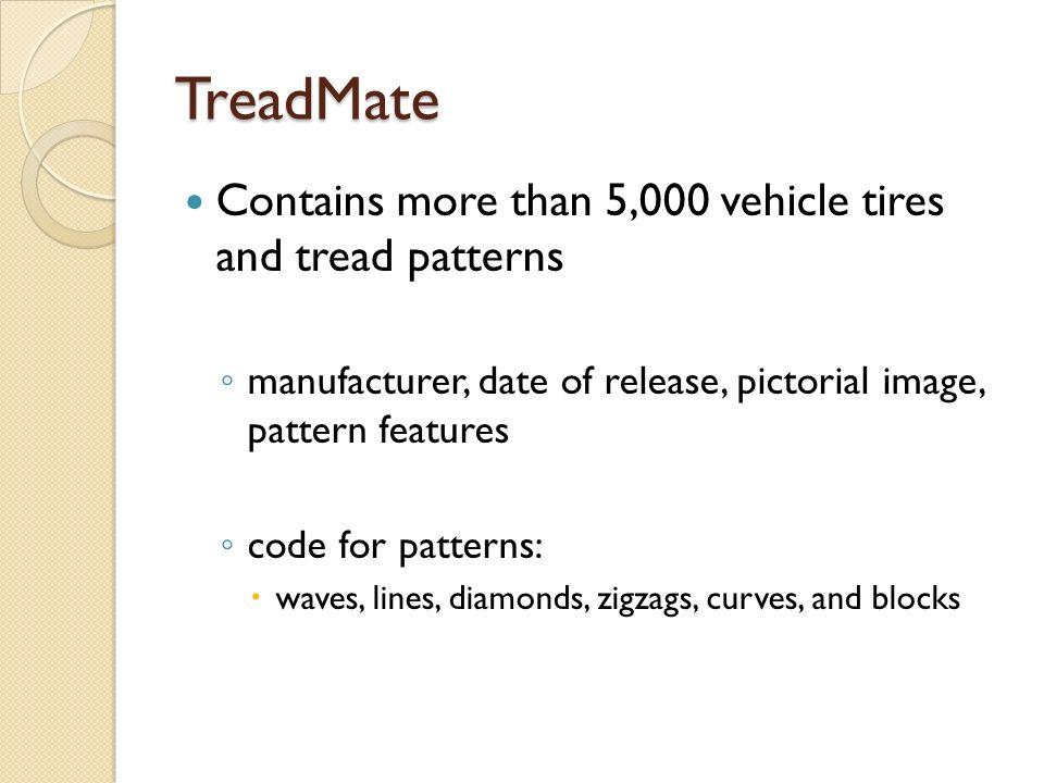 treadmate database