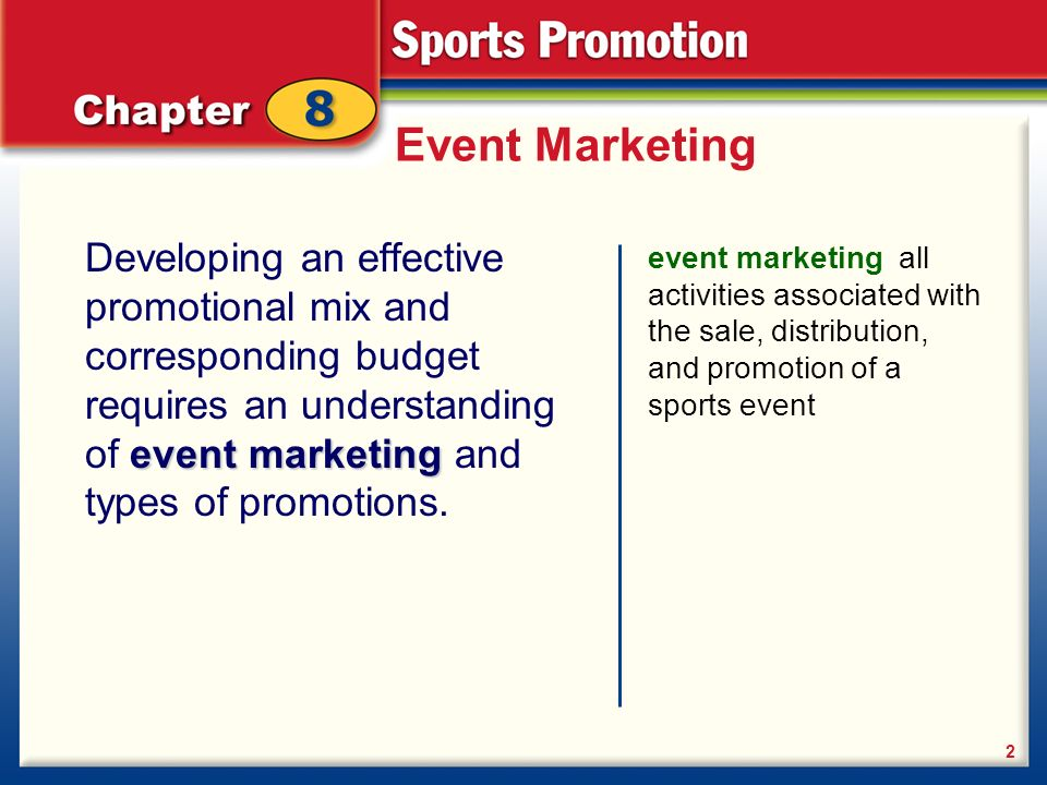 d3a407fcc590 Planning the promotion Advertising Sales promotion Public relations. 2  Event Marketing Developing ...