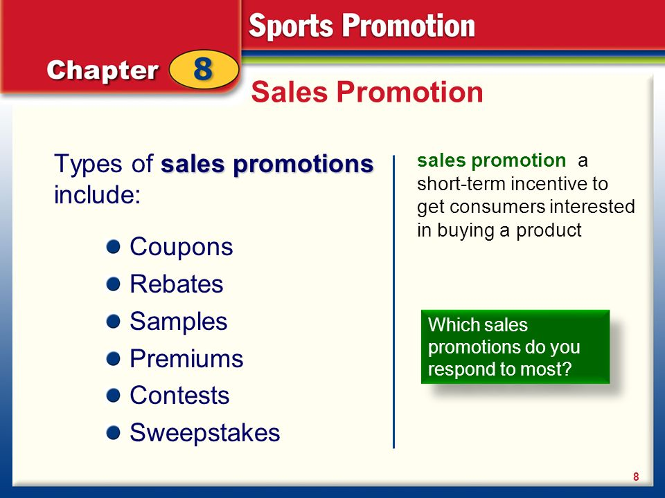 advertising personal selling coupons and sweepstakes are forms of planning the promotion advertising sales promotion public 8641