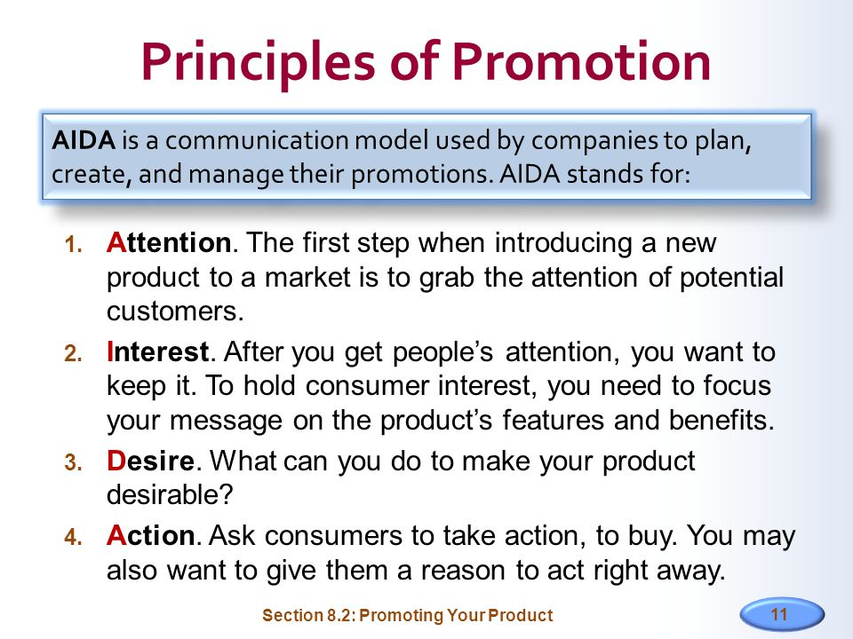 Principles of Promotion
