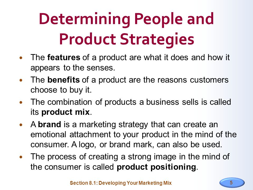 Determining People and Product Strategies