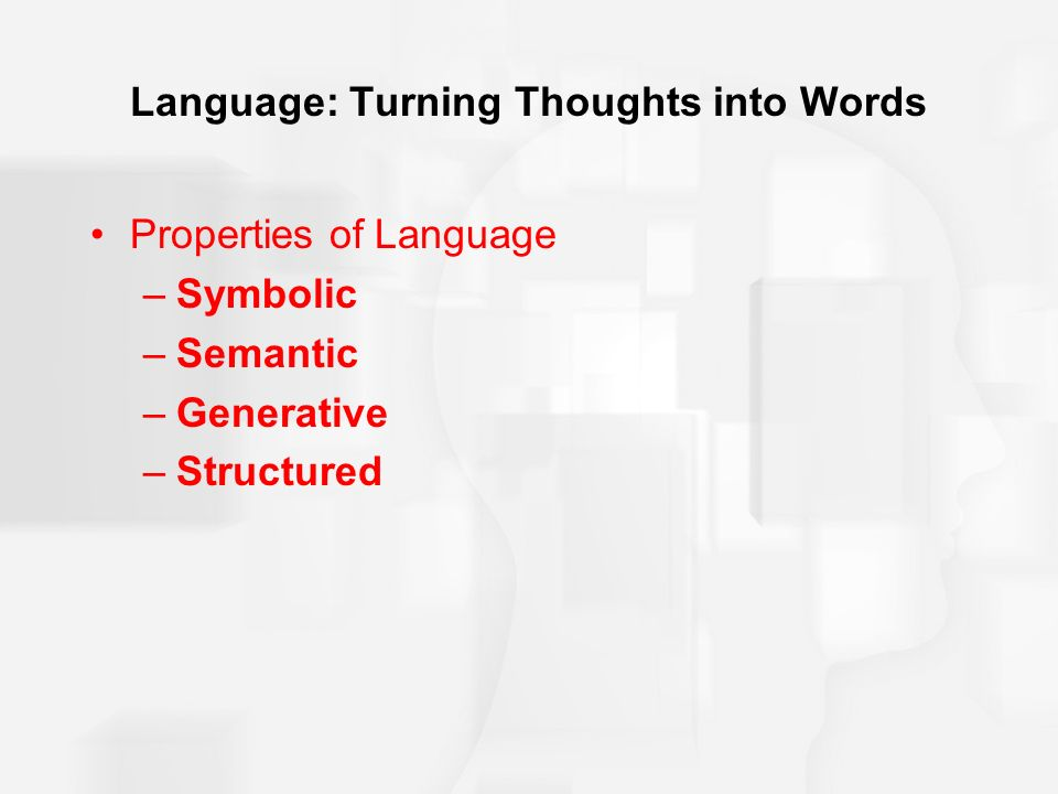 Chapter 8 Language And Thought Ppt Video Online Download