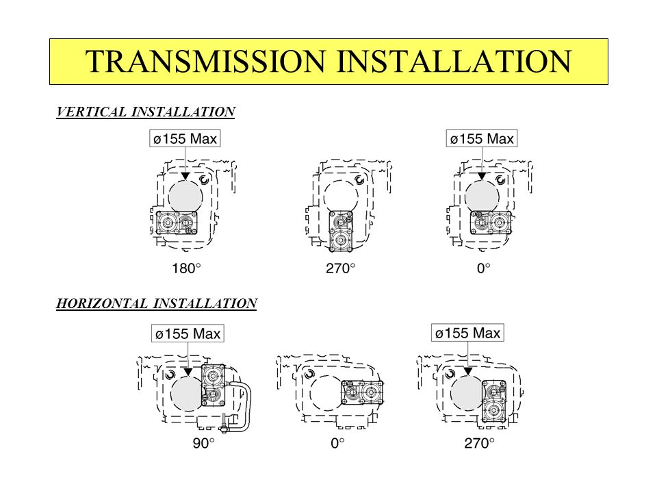 TRANSMISSION INSTALLATION