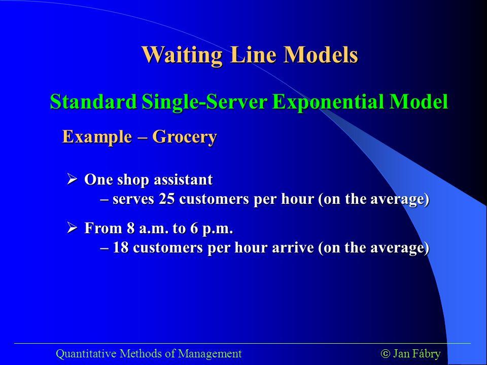 single server waiting line example