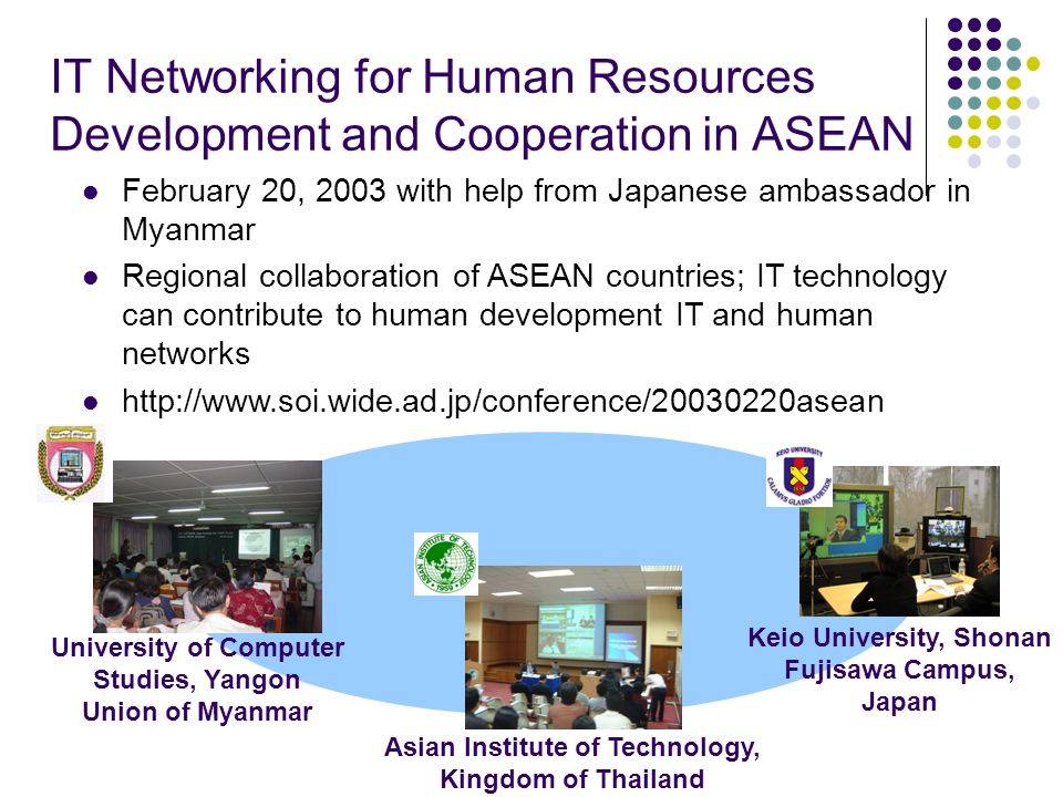 IT Networking for Human Resources Development and Cooperation in ASEAN