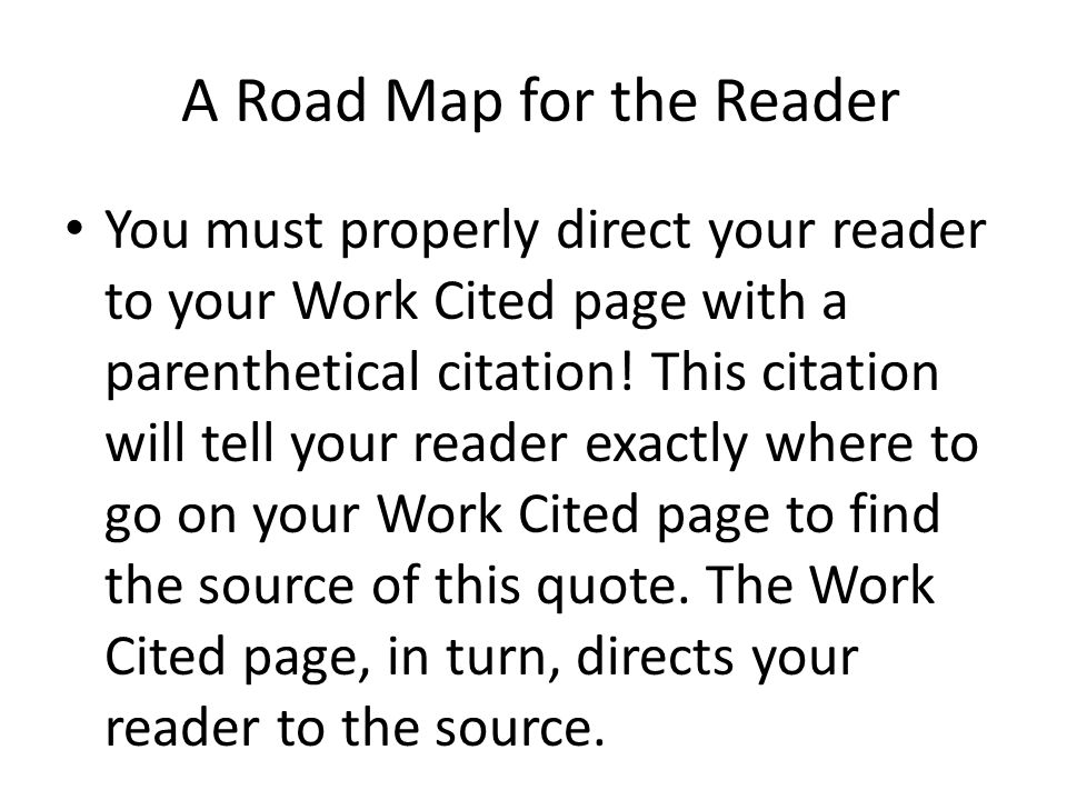 work cited pages in mla format