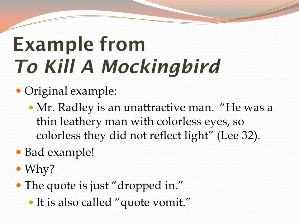bad example quotes