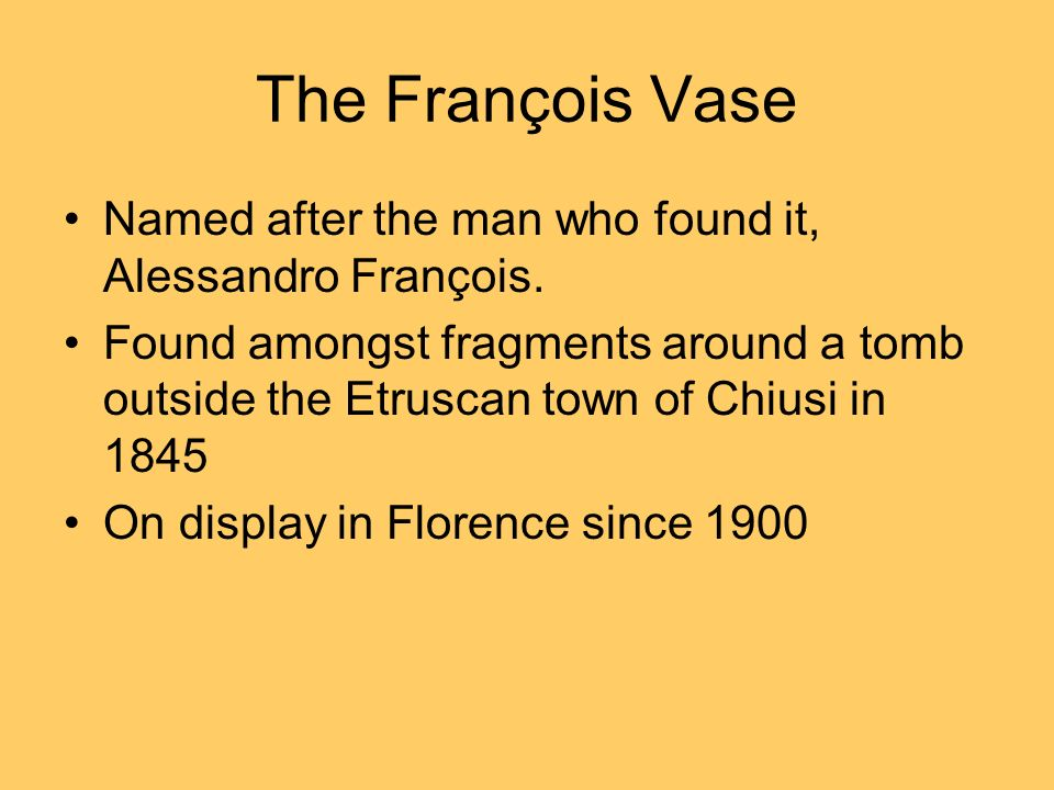 The Franois Vase White Text P Black Text P Ppt Download