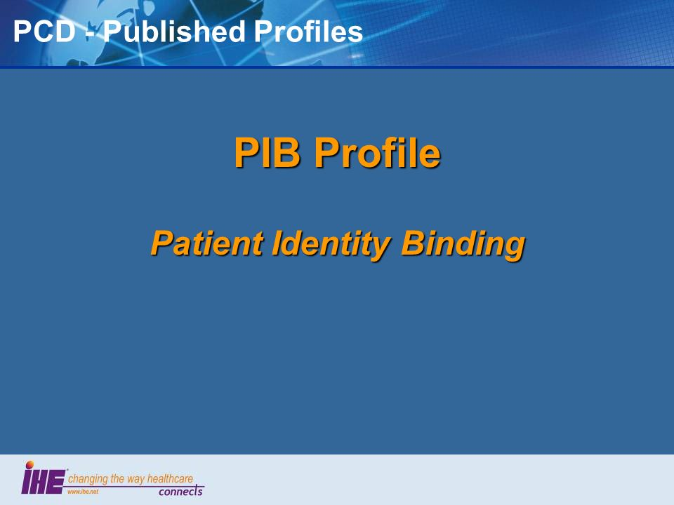 PCD - Published Profiles