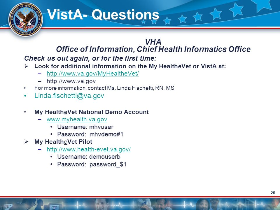 Veterans Health Administration VistA - ppt download