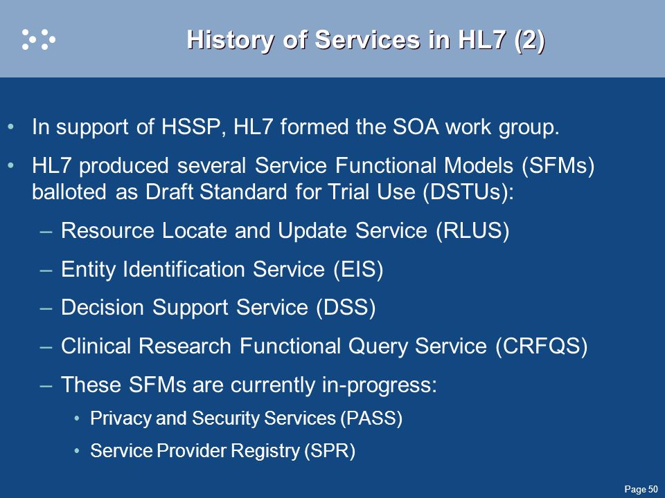 History of Services in HL7 (2)