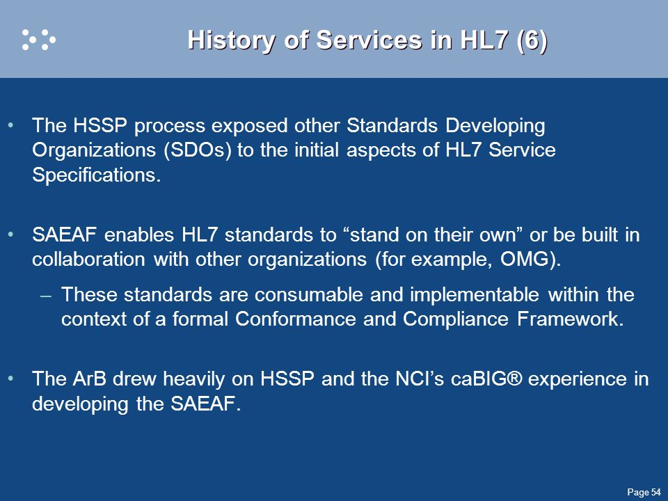 History of Services in HL7 (6)