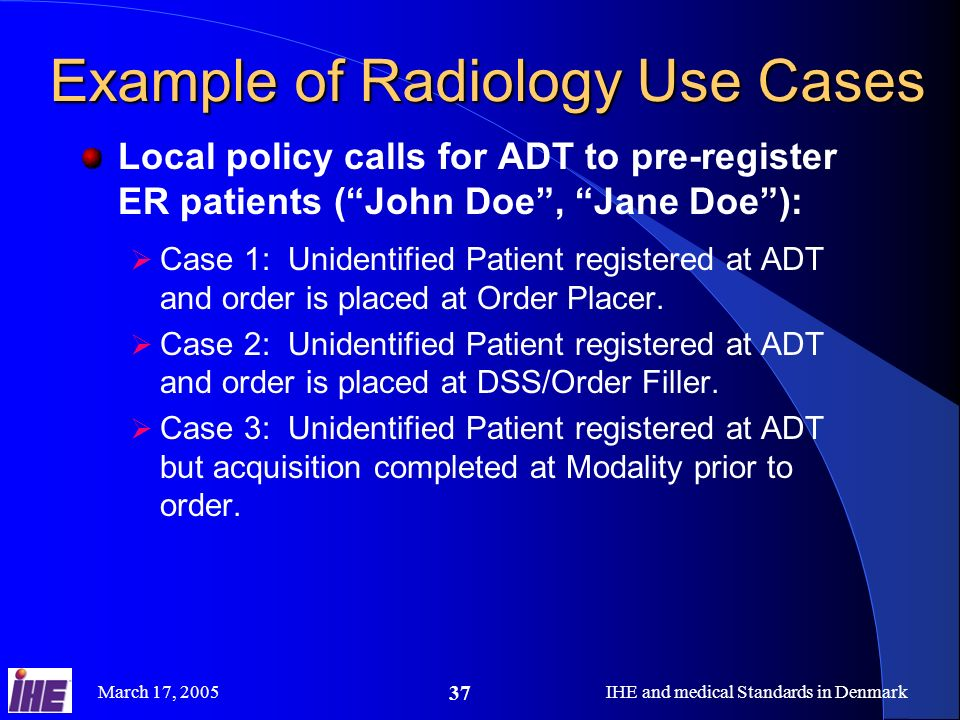 Example of Radiology Use Cases