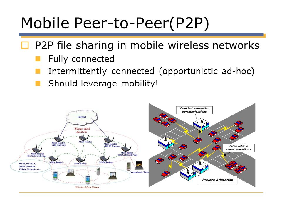 Mobile Peer-to-Peer(P2P)