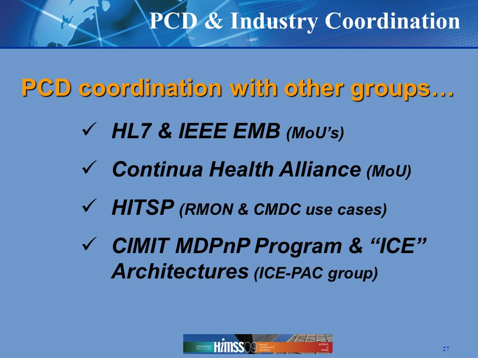 PCD & Industry Coordination