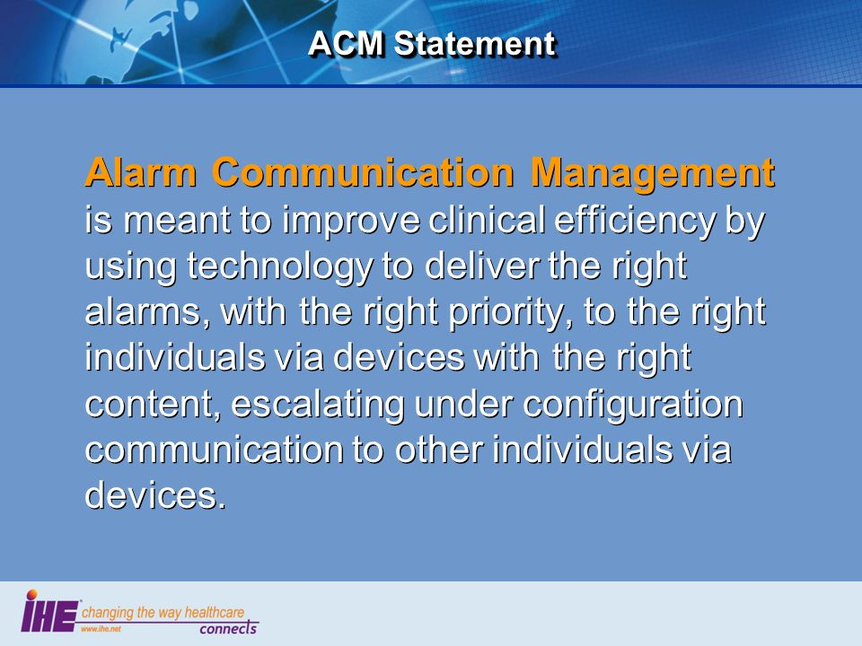 ACM Statement