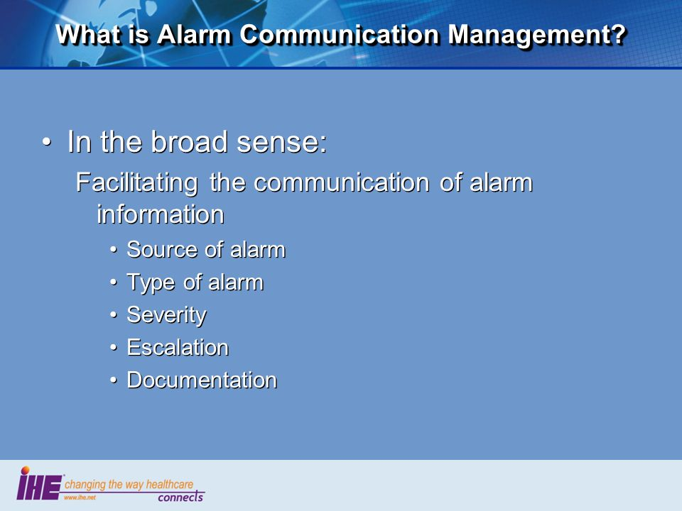 What is Alarm Communication Management