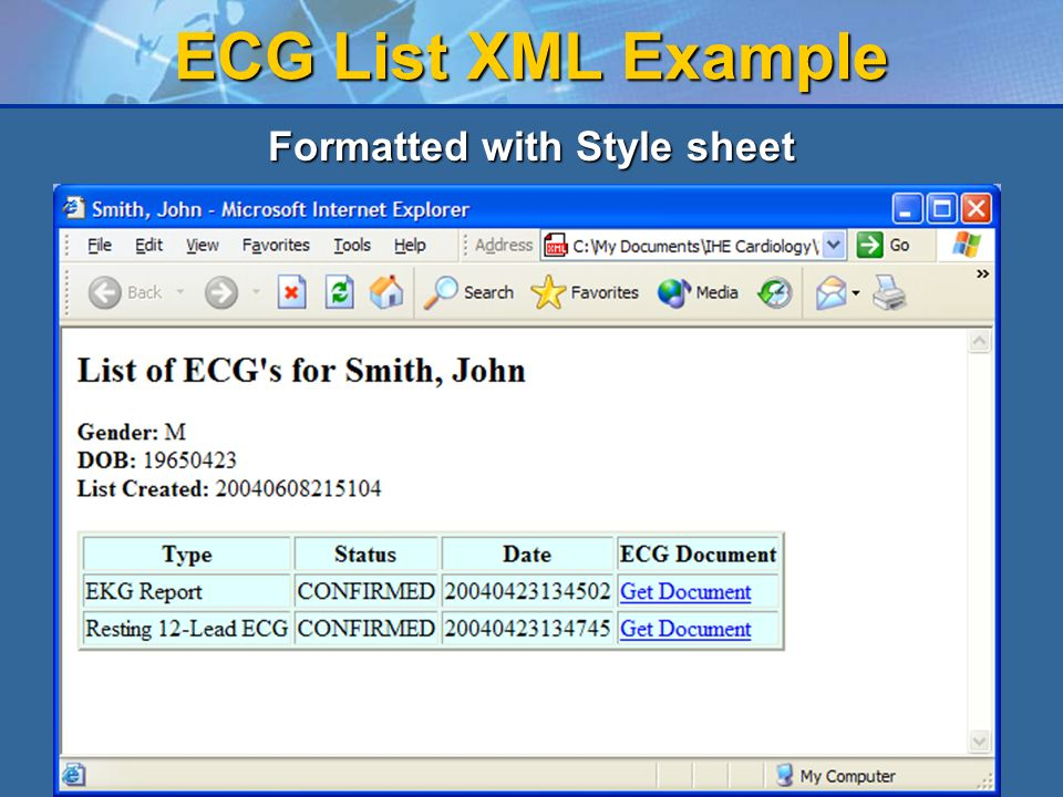 Formatted with Style sheet