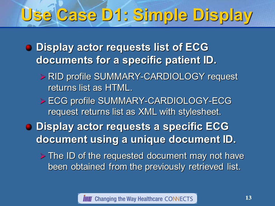 Use Case D1: Simple Display
