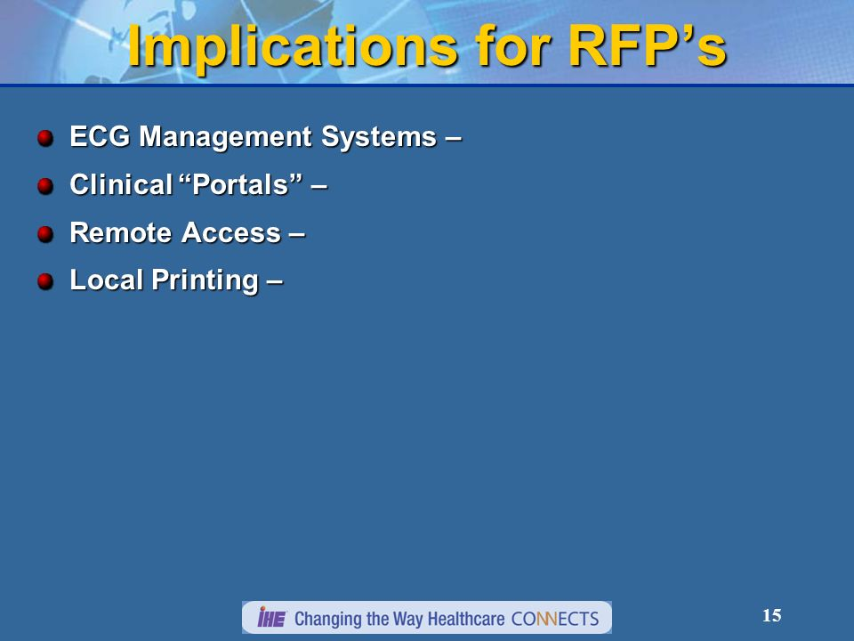 Implications for RFP's