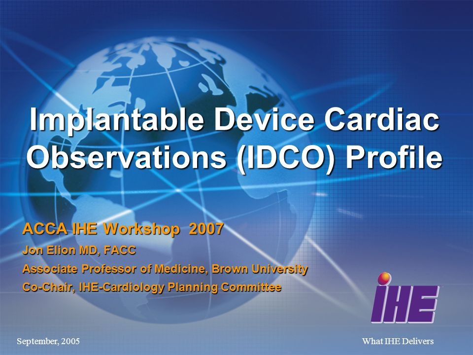 Implantable Device Cardiac Observations (IDCO) Profile
