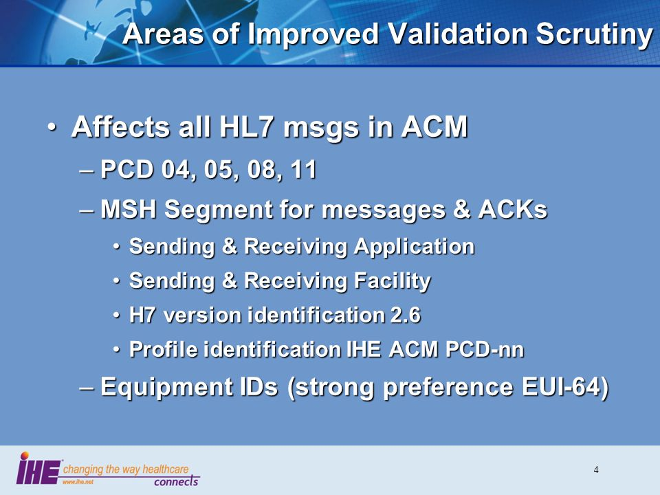 Areas of Improved Validation Scrutiny