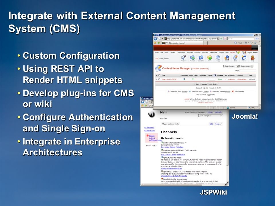 Integrate with External Content Management System (CMS)