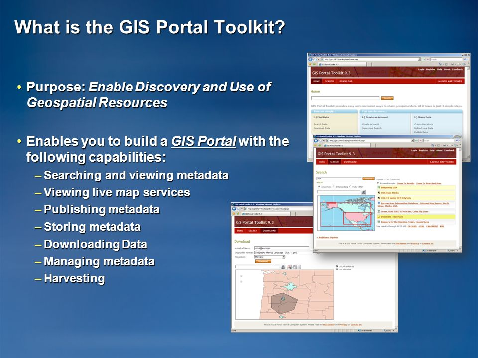What is the GIS Portal Toolkit