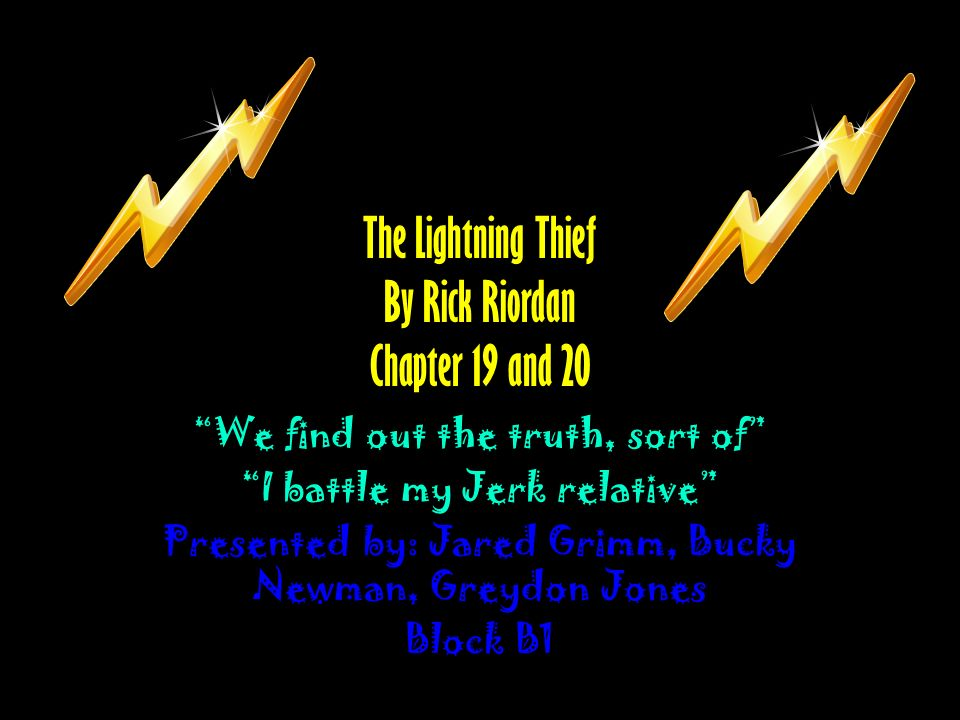The Lightning Thief By Rick Riordan Chapter 19 And 20